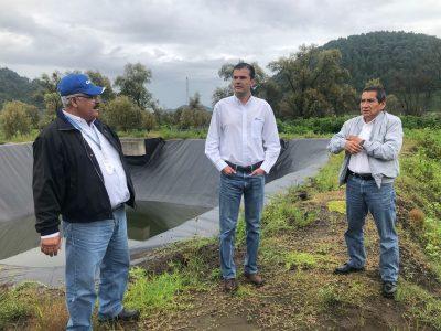 PTAR en San Lorenzo recargará acuíferos con agua de calidad •Realizan recorrido para constatar avances